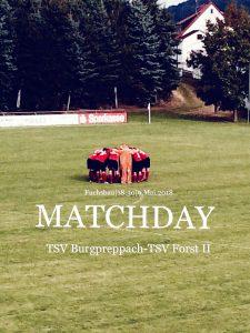 Spieltags Flyer TSV - TSV Forst II